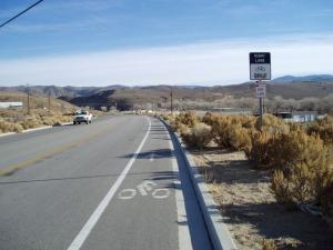 Bicycle lane on Deer Run Road