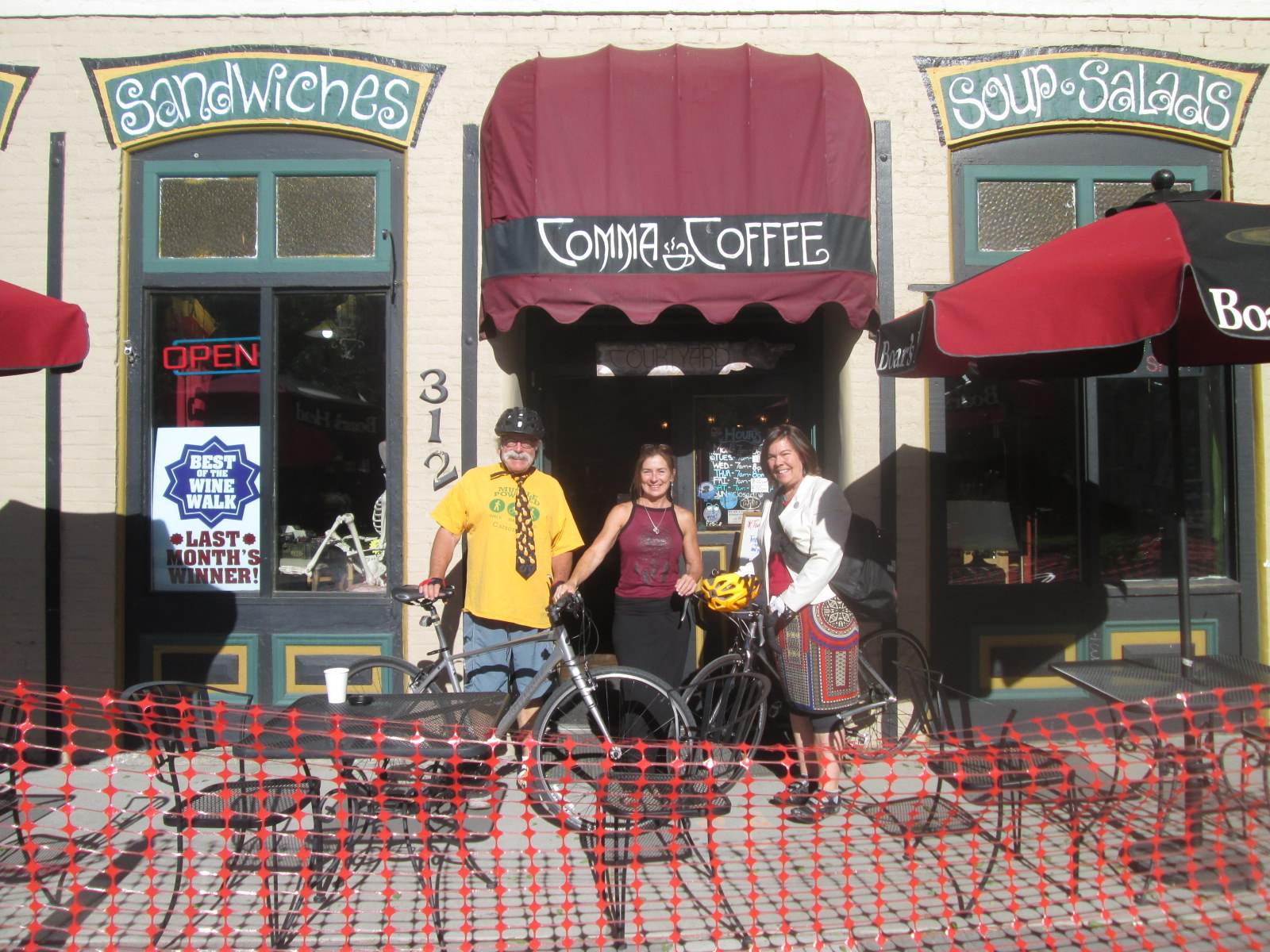 bike to work comma coffee